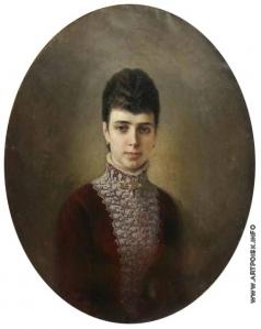 Кошелев Н. А. Женский портрет. (Портрет императрицы Марии Федоровны)