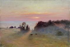 Дубовской Н. Н. Берег моря. Закат