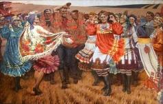 Сидельников И. И. Праздник урожая (Хлеб убран)