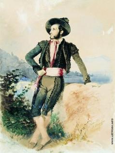 Штернберг В. И. Айвазовский в итальянском костюме
