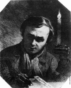 Шевченко Т. Г. Автопортрет со свечёй