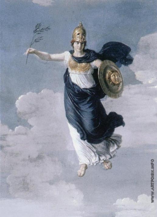 Иванов А. И. Минерва, парящая в эфире небес (Минерва в облаках)