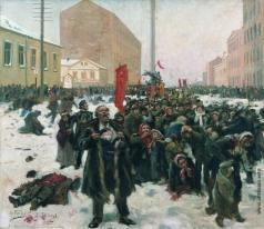 Маковский В. Е. 9 Января 1905 года на Васильевском острове