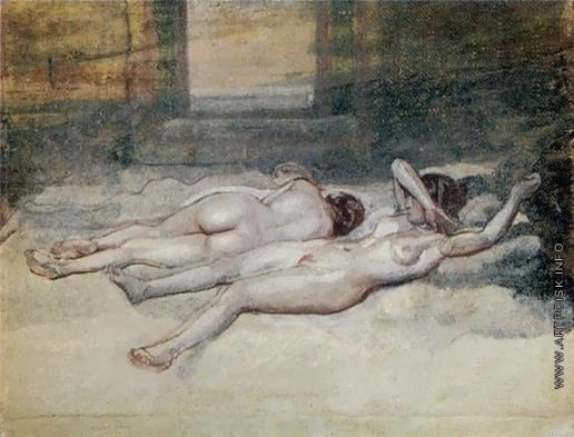 Иванов А. А. Лежащие обнаженные женщины