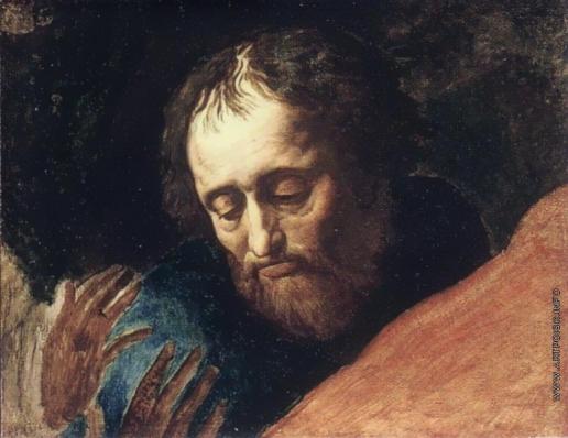 Иванов А. А. Голова апостола, смотрящего вниз