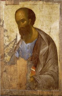 "Рублёв А. Апостол Павел. Из Деисусного чина (""Звенигородский"")"