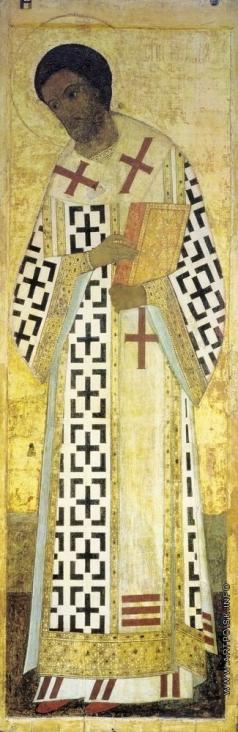 Рублёв А. Иоанн Златоуст. Цикл икон деисусного чина иконостаса Успенского собора во Владимире