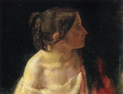 Иванов А. А. Полуфигура женщины (в повороте, близком повороту Иоанна Богослова)