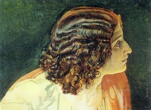 Иванов А. А. Голова Иоанна Богослова с темно-рыжими волосами