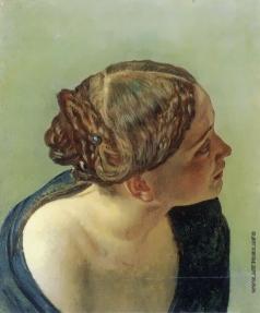 Иванов А. А. Полуфигура женщины со светло-рыжими волосами (в повороте мальчика, выходящего из воды)