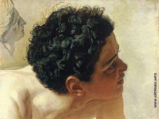 Иванов А. А. Голова мальчика, выходящего из воды. Профиль гипсовой головы Аполлона