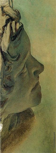 Иванов А. А. Голова кентавра (с гипсового слепка; в повороте головы мальчика, выходящего из воды)