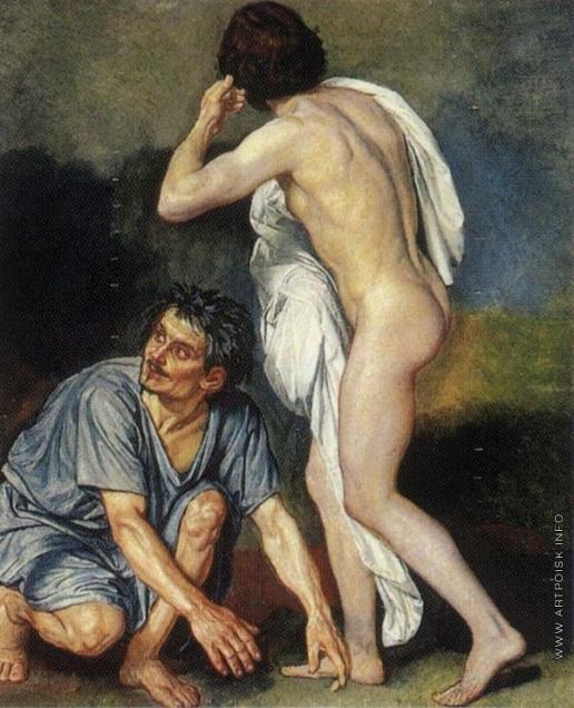 Иванов А. А. Фигура раба и фигура юноши, повернувшегося спиной (группа)