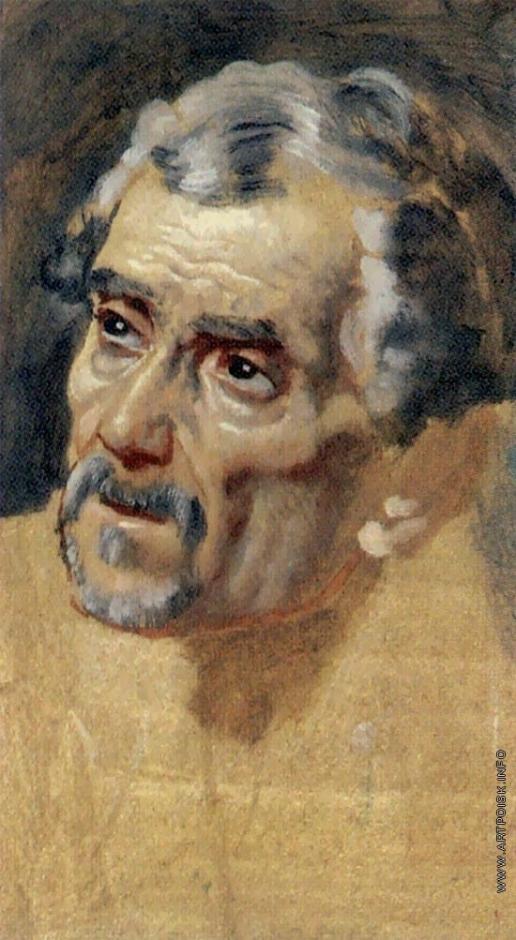 Иванов А. А. Голова старика с седыми волосами (в повороте головы раба)