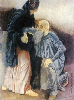 Иванов А. А. Юноша, поддерживающий поднимающегося старика, и поднимающийся старик (группа)