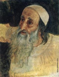 Иванов А. А. Полуфигура поднимающегося старика