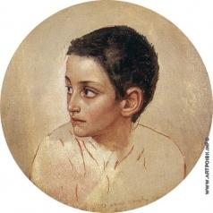 Иванов А. А. Голова мальчика (этюд для головы дрожащего мальчика)
