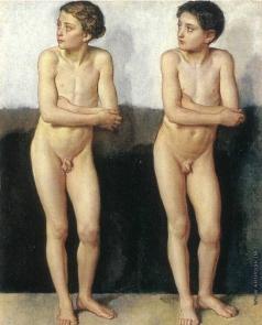Иванов А. А. Обнаженный мальчик (в повороте дрожащего мальчика — два варианта)
