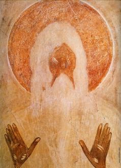Грек Ф. Фигура святого Макария Египетского. Роспись церкви Спаса Преображения на Ильине улице