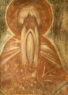 Грек Ф. Столпник Алипий. Роспись церкви Спаса Преображения на Ильине улице