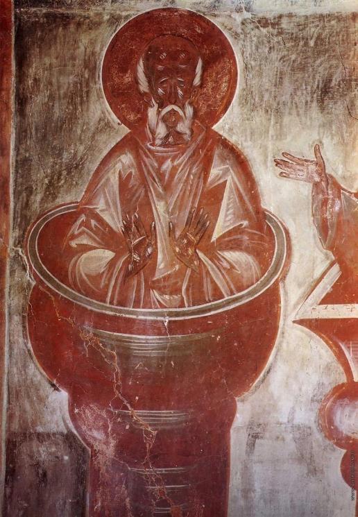 Грек Ф. Столпник Симеон старший. Роспись церкви Спаса Преображения на Ильине улице