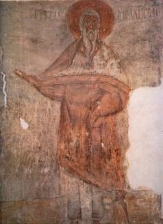 Грек Ф. Мельхиседек. Фреска в куполе. Роспись церкви Спаса Преображения на Ильине улице