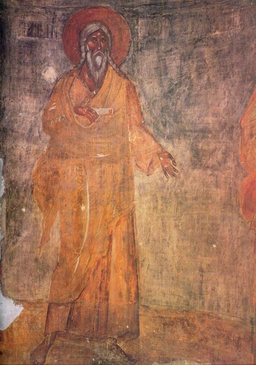 Грек Ф. Праотец Сиф. Фреска в куполе. Роспись церкви Спаса Преображения на Ильине улице