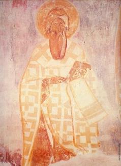 Грек Ф. Анфим Никомидийский. Фреска в диаконнике. Роспись церкви Спаса Преображения на Ильине улице