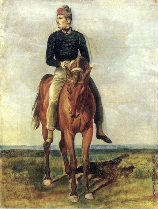 Иванов А. А. Французский солдат на гнедом коне (в повороте левого всадника)