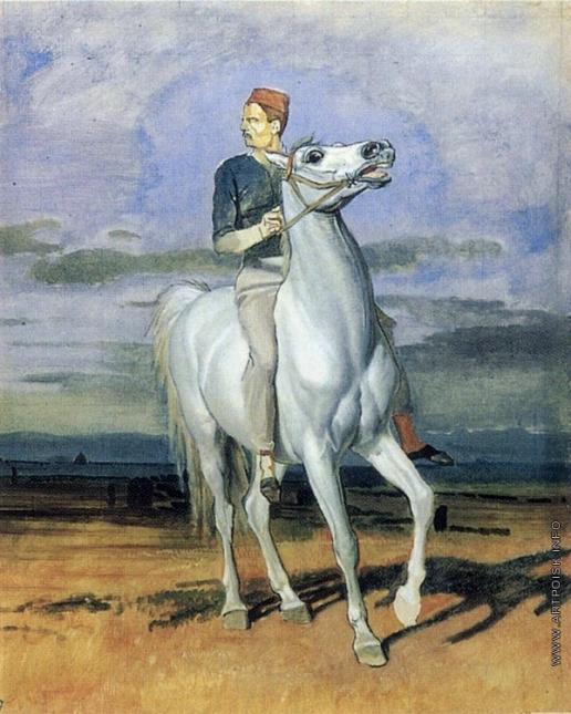 Иванов А. А. Французский солдат на белом коне (в повороте правого всадника)