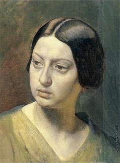 Иванов А. А. Голова женщины