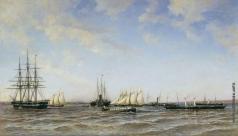 Беггров А. К. Гонки яхт «Держава» и «Александрия» на Малом Кронштадтском рейде