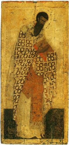 Грек Ф. Василий Великий. Из деисусного чина иконостаса Благовещенского собора Московского Кремля
