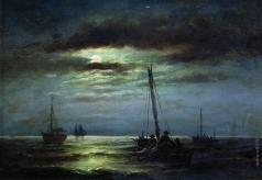 Беггров А. К. Ночь на реке