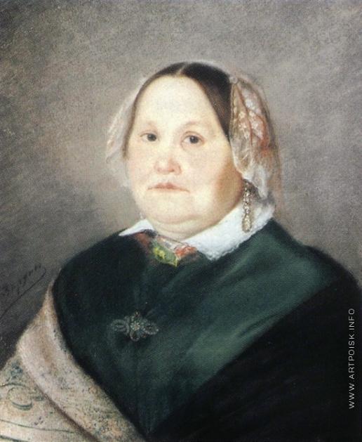 Зарянко С. К. Портрет пожилой женщины в зеленом платье