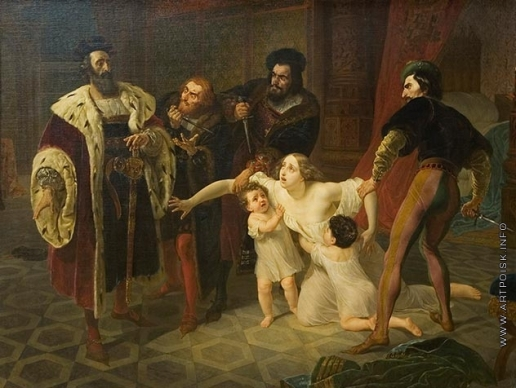 Брюллов К. П. Смерть Инессы де Кастро