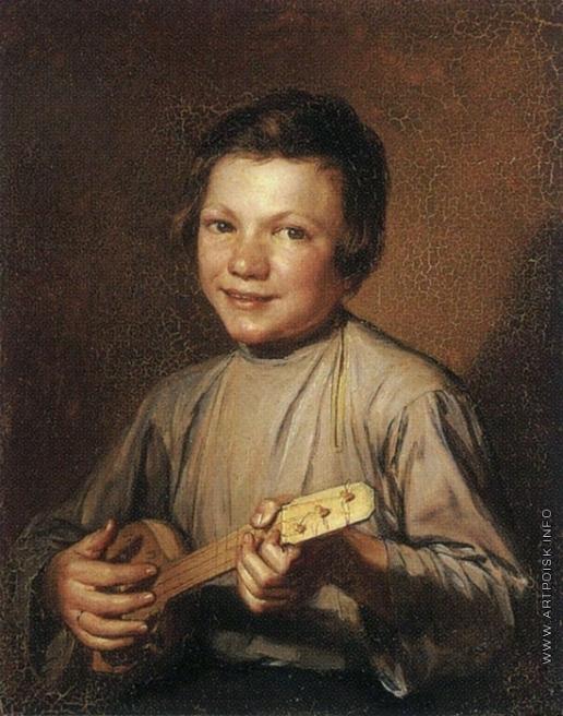 Заболотский П. Е. Мальчик с балалайкой