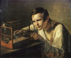 Заболотский П. Е. Мальчик с птичкой