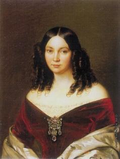Заболотский П. Е. Портрет девушки в красном бархатном платье