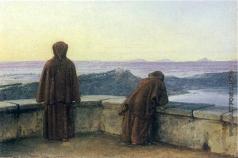 Жуковский В. А. Два монаха на террасе Виллы Маттеи. Вид на Римскую Кампанью