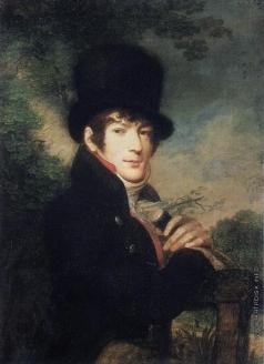 Жерен И. М. Портрет молодого человека в цилиндре