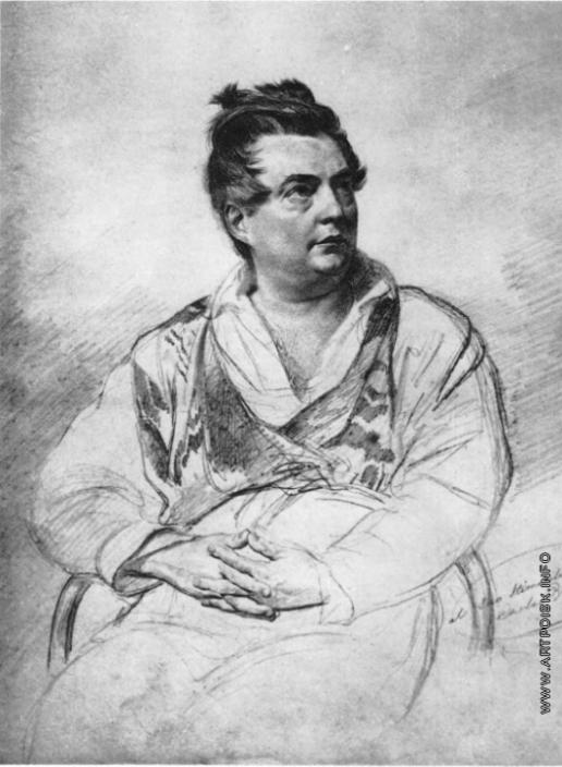 Брюллов К. П. Портрет скульптора Витали