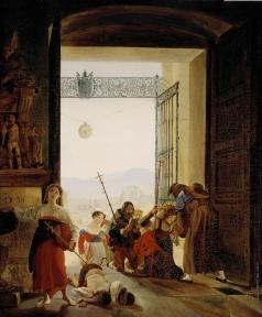 Брюллов К. П. Пилигримы в дверях латеранской базилики