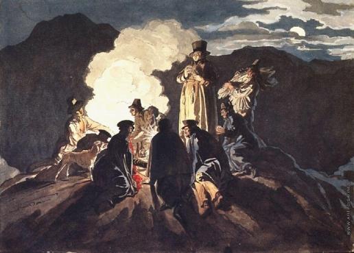 Брюллов К. П. На кратере, Везувий.