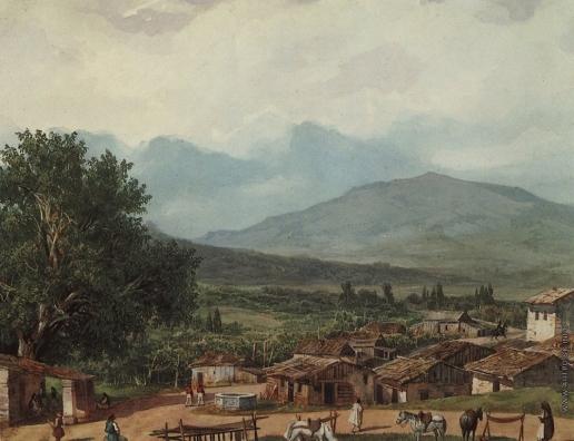 Брюллов К. П. Деревня св. Рокка близ города Корфу