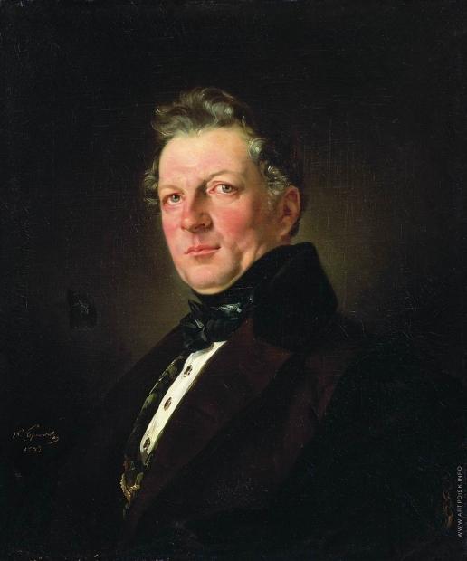 Брюллов К. П. Портрет архитектора А.М. Болотова