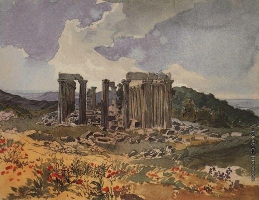 Брюллов К. П. Храм Аполлона Эпикурейского в Фигалии
