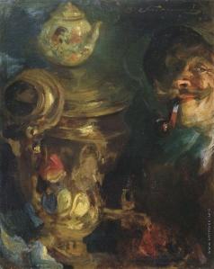 Беляшин В. В. Автопортрет у самовара