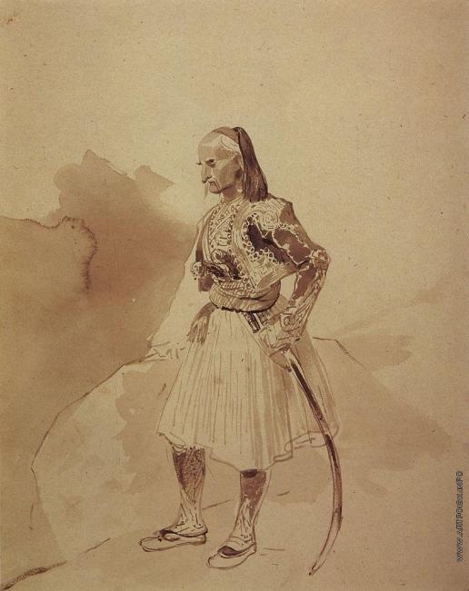Брюллов К. П. Портрет греческого инсургента Теодора Колокотрони