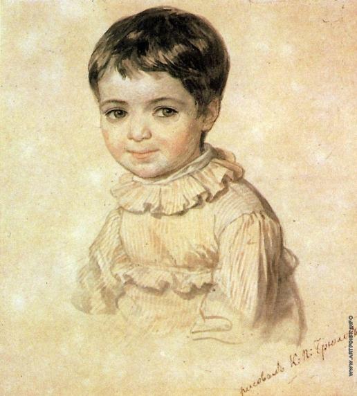 Брюллов К. П. Портрет М. П. Кикиной в детстве